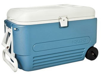 50% off Igloo MaxCold 60 Quart Wheeled Roller Cooler