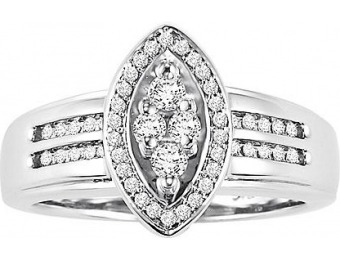 92% off Orange Blossom 1/3 cttw Certified Diamond Ring, Size: 7