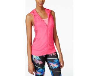 89% off Material Girl Active Juniors' Hooded Mesh Vest