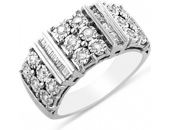 92% off 1/2cttw Diamond Illusion Ring in Sterling Silver