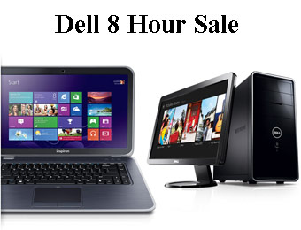 Dell 8 Hour Sale, Up to 34% off Laptops & Desktops