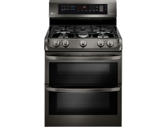 30% off LG EasyClean Double Oven Convection Gas Range LDG4315BD