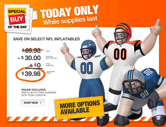 43% off 8 Foot & 5 Foot NFL Inflatable Players, 23 Teams