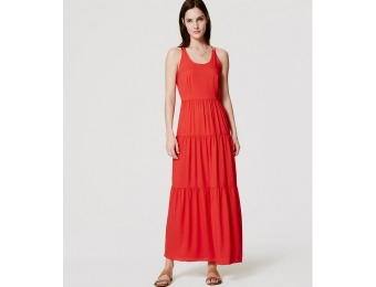 80% off LOFT Tiered Strappy Maxi Dress