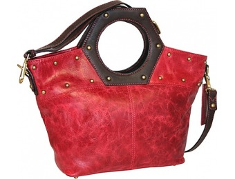 72% off Nino Bossi Cut it Out Red Leather Handbag