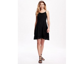 76% off Old Navy Embroidered Crepe Dress For Women