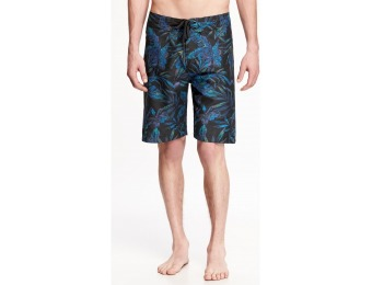 74% off Old Navy Tropical Print Board Shorts For Men 9""