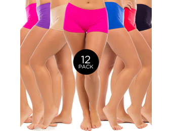 $90 off 12-Pack Women's Seamless Boy Short Panties, Assorted Colors