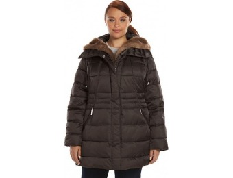 80% off Plus Size Apt. 9 Hooded Trapunto Puffer Jacket