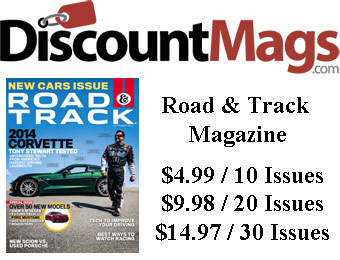 90% off Road & Track Magazine Subscription, $4.99 / 10 Issues