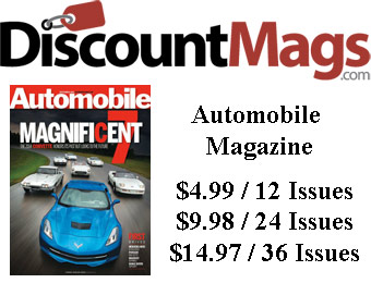 92% off Automobile Magazine Subscription, $4.99 / 12 Issues