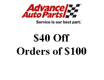 Advance Auto Parts Coupon: $40 off $100 w/code: DOW35