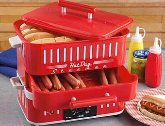 57% off CuiZen ST-1412 Retro Style Hot Dog Steamer w/ EMCYTZT4092