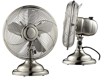 "50% off Init 12"" Retro Table Fan (Stainless-Steel or Copper)"