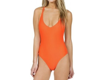 55% off Volcom Simply Solid One-Piece Swimsuit