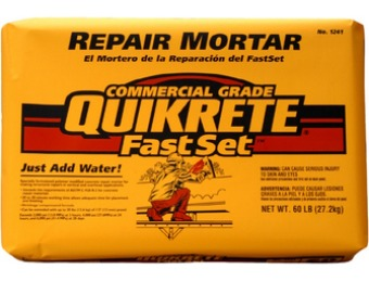 79% off QUIKRETE Fastset Repair 60-lb Gray Type-M Mortar Mix