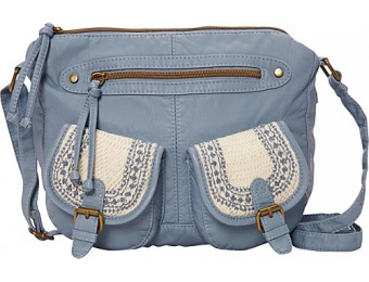 60% off T-shirt & Jeans Washed Double Pocket Crossbody