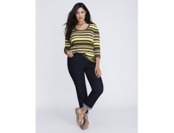 50% off Lane Bryant Plus Size Ribbed Pullover Sweater