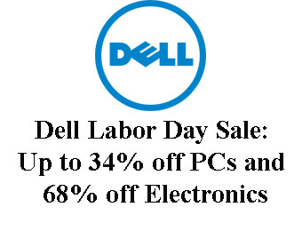 Dell Labor Day Sale: Up to 34% off PCs and 68% off Electronics