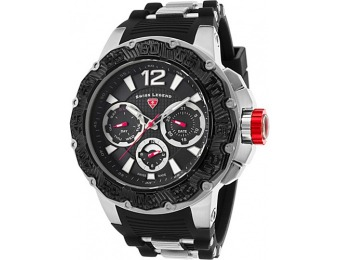 87% off Swiss Legend Opus Chrono Silicone Band Watch, Black