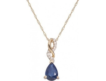 80% off Sapphire & Diamond Accent 10k Gold Twist Pendant Necklace