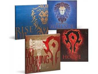 77% off Warcraft Movie Wrapped Canvas Art Set
