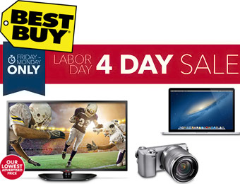 Best Buy 4-Day Labor Day Sale, $100s off Electronics, HDTVs