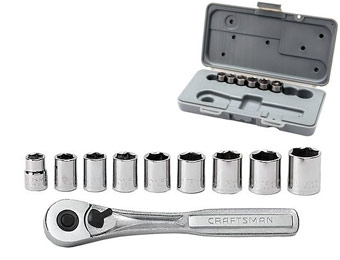 67% off Craftsman 10 pc. 6 pt. 3/8 in. Metric Socket Wrench Set