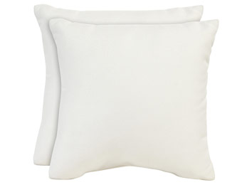 58% off Allen + Roth Sunbrella Pearl Accent Pillows, Set of 2