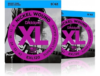 62% off D'addario Exl120 Nickel Electric Guitar Strings Two-Pack
