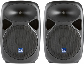 63% off Gem Sound Pxb120usb 12 Powered Speakers, Pair