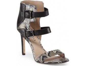 64% off Leather Heeled Buckle Sandal
