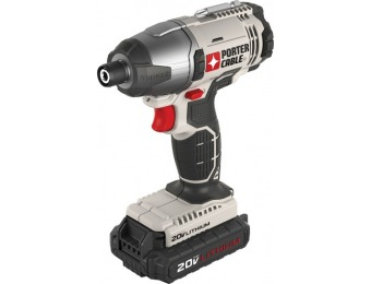 $40 off PORTER-CABLE 20-Volt Max 1/4-in Cordless Impact Driver