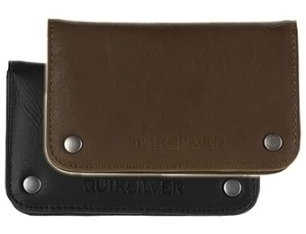 60% off Quiksilver Escort Wallet (black or brown)