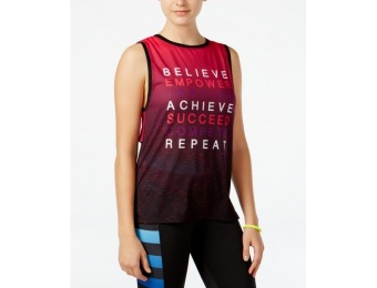 79% off Energie Active Juniors' Deidre High-Low Graphic Tank Top