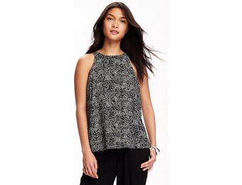80% off Old Navy Patterned High Neck Trapeze Tank For Women