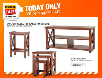 30% off Select Brexley Furniture at Home Depot