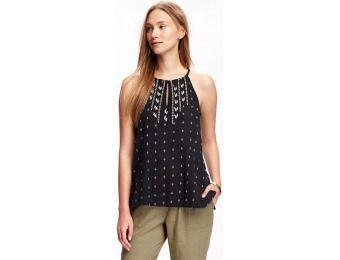 82% off Old Navy High Neck Gauze Top For Women