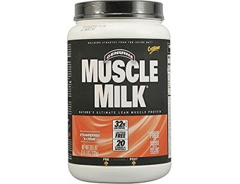 67% off CytoSport Muscle Milk Strawberry 2.47Lb Can