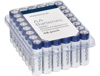 47% off Insignia AA Alkaline Batteries (48-Pack)