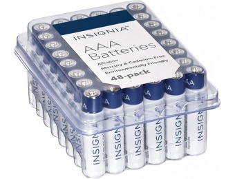 53% off Insignia AAA Alkaline Batteries (48-Pack)