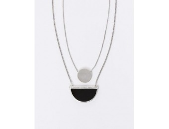 80% off Lane Bryant 2-Layer Necklace with CZ Half Circle Pendant