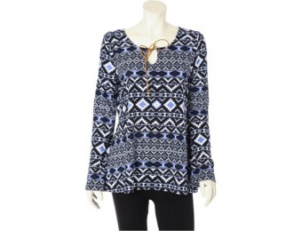 50% off Bobbie Brooks Peasant Top - Tribal