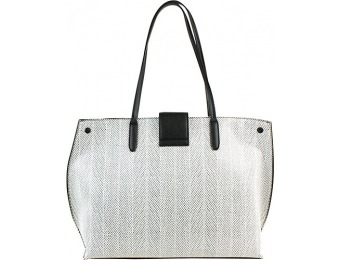 56% off Christian Siriano Aziza Tote, Black Lizard