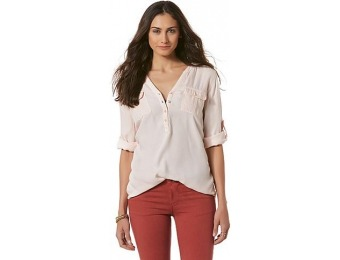 85% off Canyon River Blues Women's Woven Henley Top