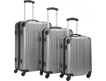 47% off McBrine Luggage 3Pc Spinner Luggage Set, Silver