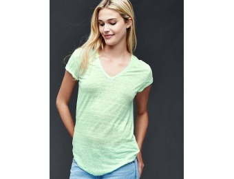 77% off Gap Linen V Neck Stripe Tee