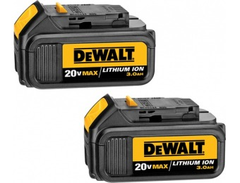 47% off DEWALT 2-Pack 20-Volt Max Power Tool Batteries DCB200-2