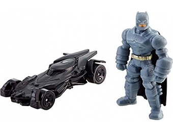 93% off Hot Wheels Armored Batman Mini Figure & Batmobile