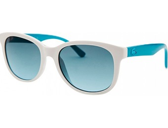 62% off Lacoste Eyewear Square Kids Sunglasses, White
